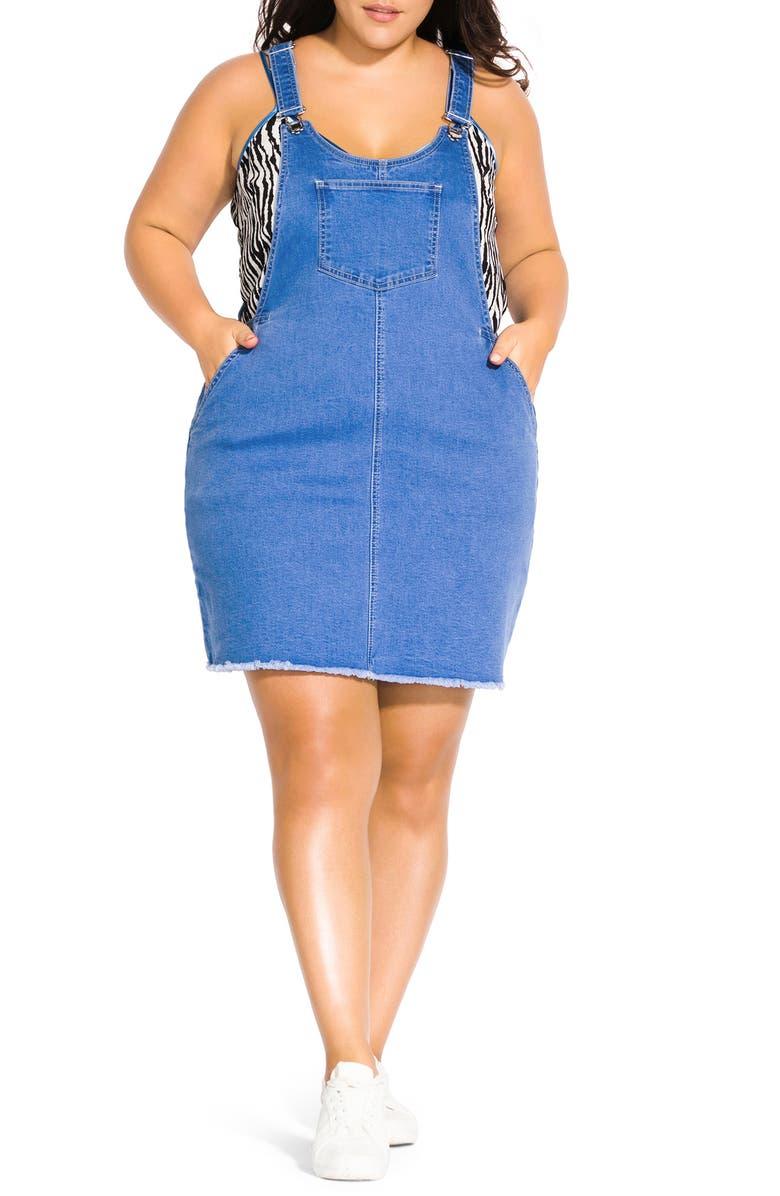 City Chic Denim Jumper Dress (Plus Size)   Nordstrom