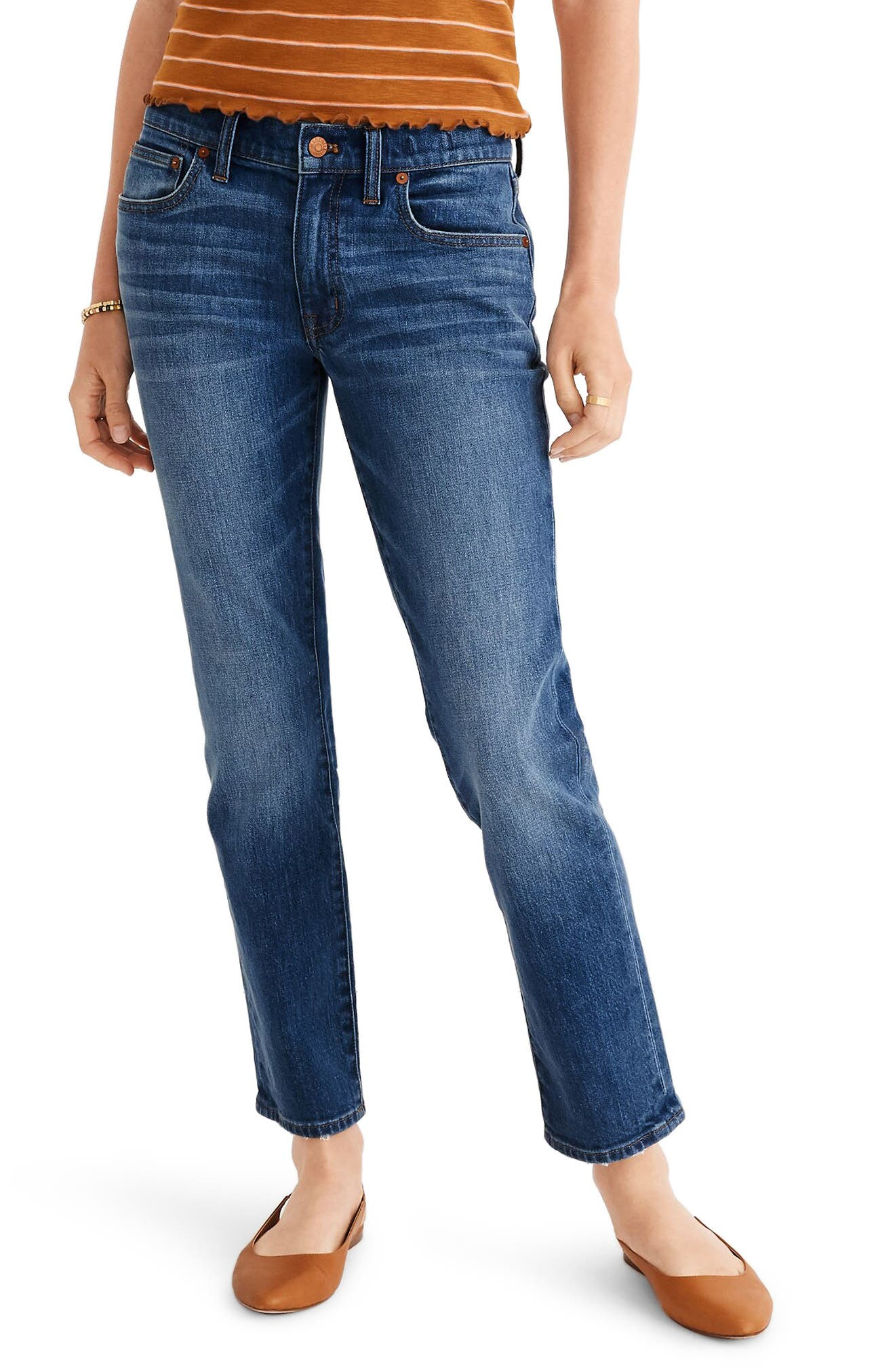 Madewell The Slim Boyfriend Jeans (Everglade Wash)