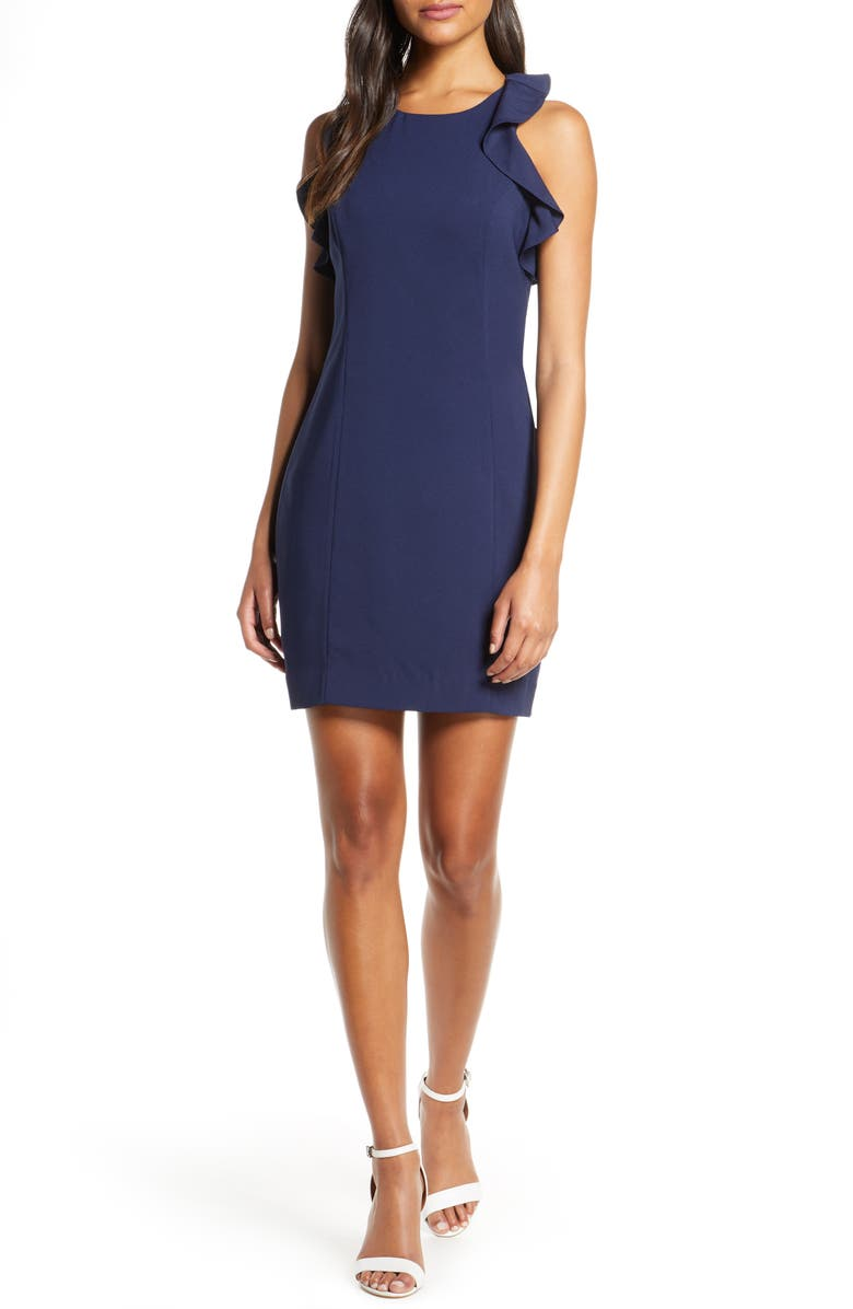 LILLY PULITZER<SUP>®</SUP> Britnee Stretch Sheath Dress, Main, color, TRUE NAVY