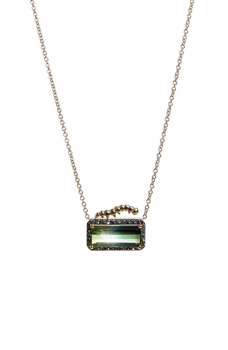 DANIELA VILLEGAS Happy Caterpillar Green Sapphire & Tourmaline Necklace, Main, color, 710
