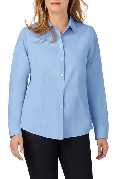 Foxcroft T-shirts DIANNA NON-IRON COTTON SHIRT