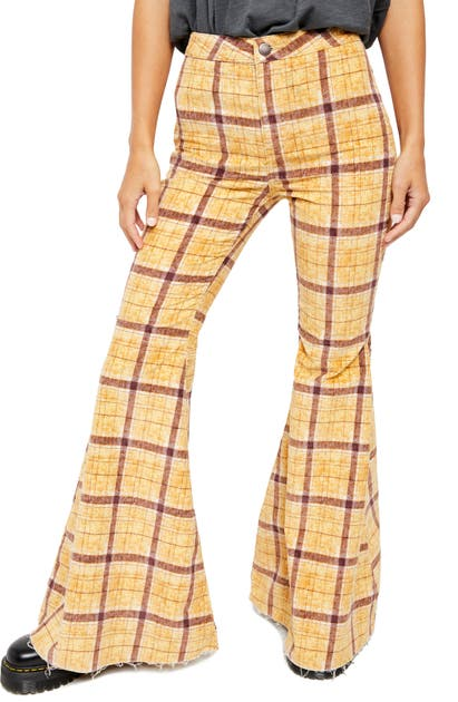 Free People Pants JUST FLOAT ON FLARE HIGH WAIST CORDUROY PANTS