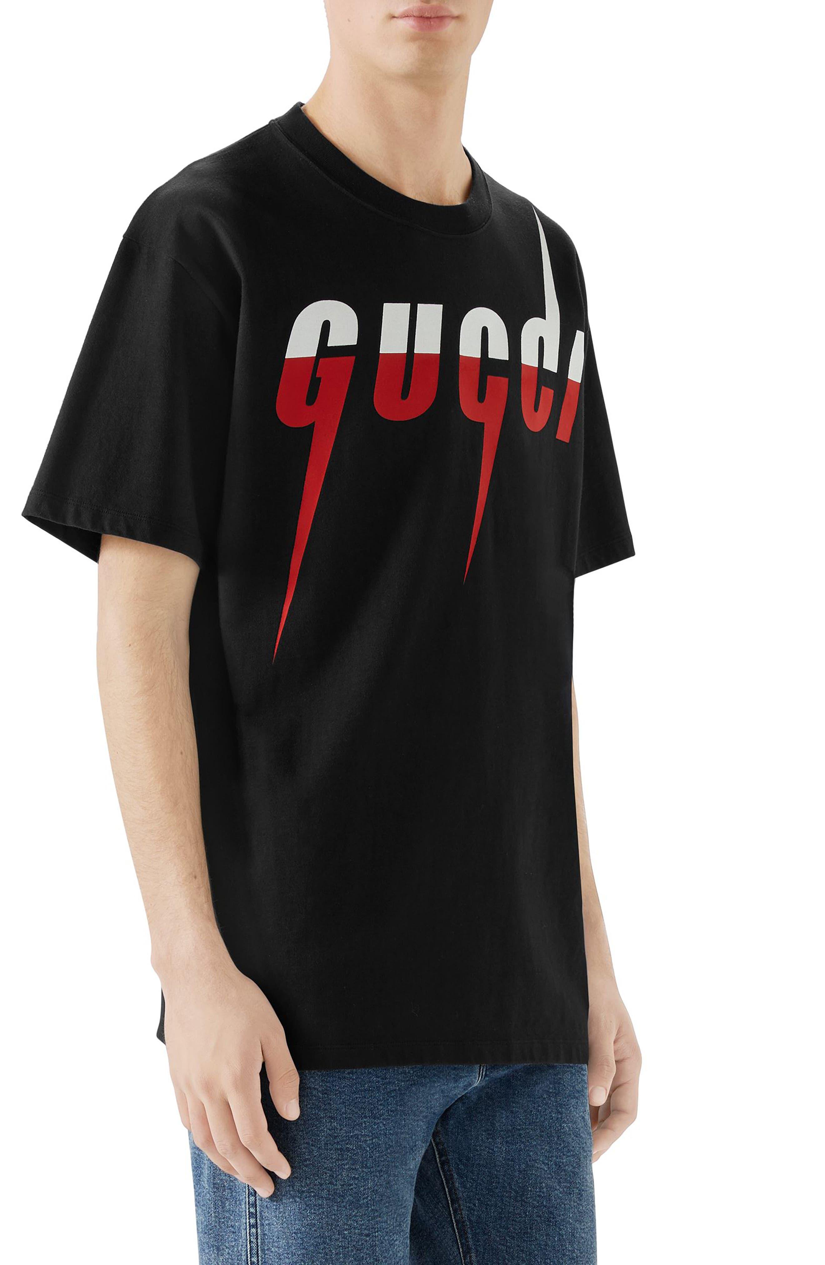 ,                             Blade Logo T-Shirt,                             Alternate thumbnail 3, color,                             MEDLEY WHITE RED