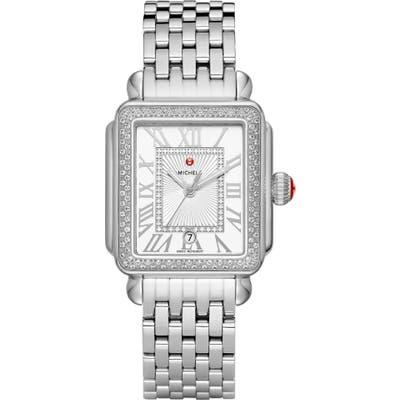 Michele Deco Madison Mid Diamond Watch Head & Bracelet, 3m