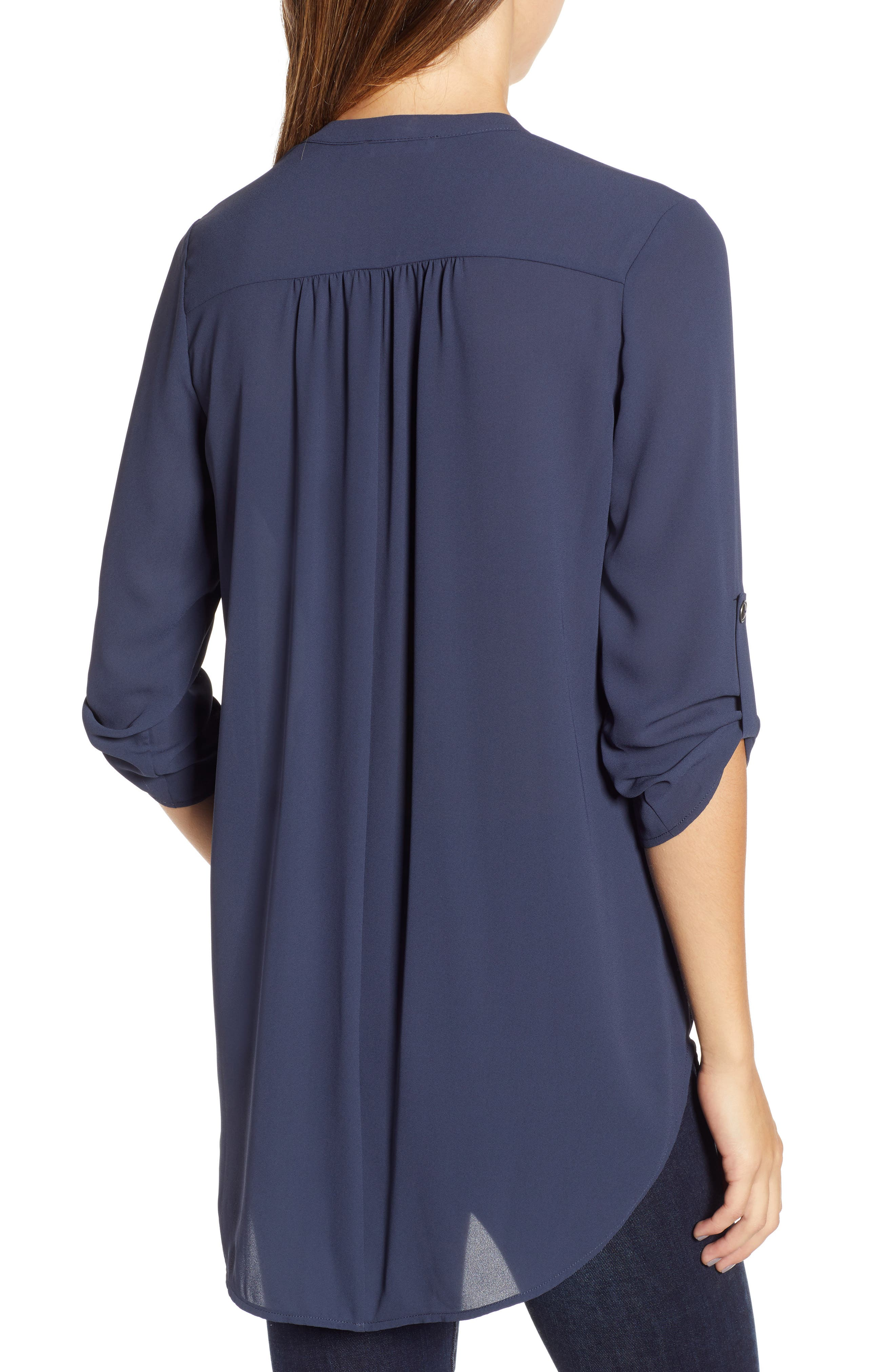 ,                             Perfect Roll Tab Sleeve Tunic,                             Alternate thumbnail 82, color,                             411