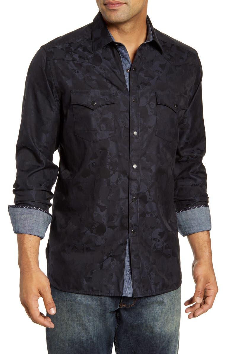 ROBERT GRAHAM Tombstone Regular Fit Button-Up Sport Shirt, Main, color, 001