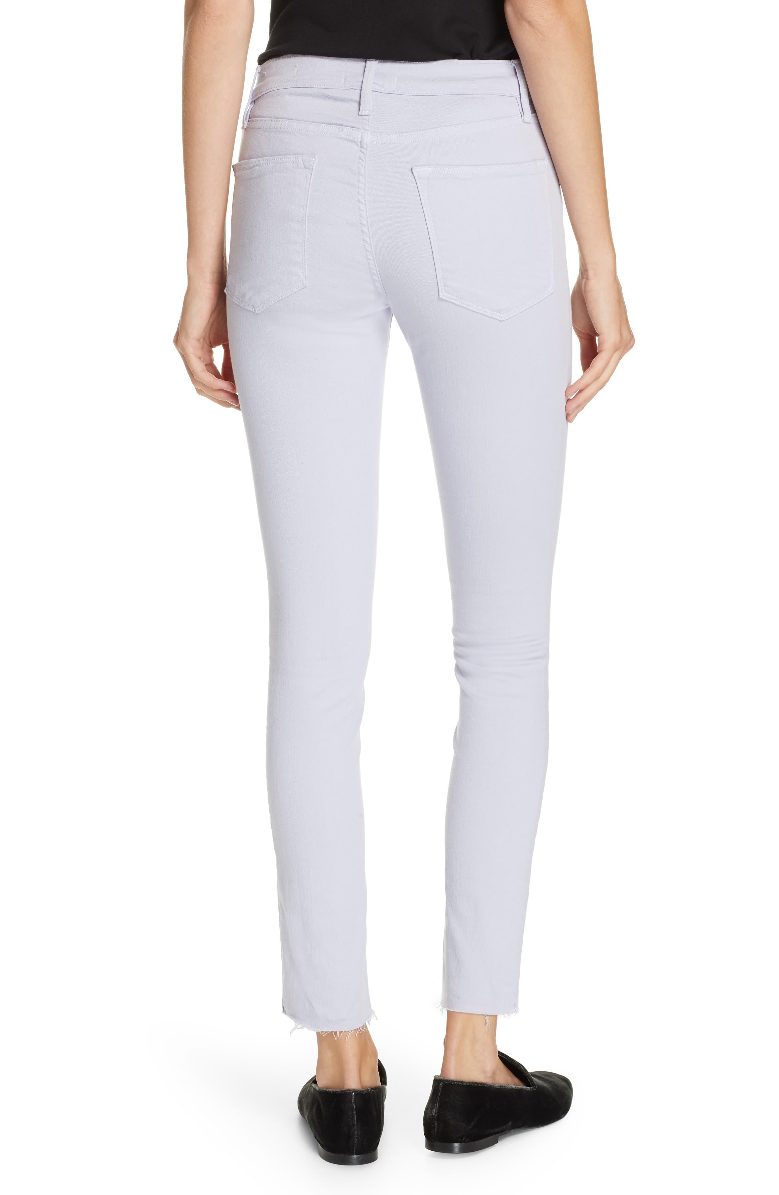 ,                             Le High Raw Hem Ankle Skinny Jeans,                             Alternate thumbnail 2, color,                             530