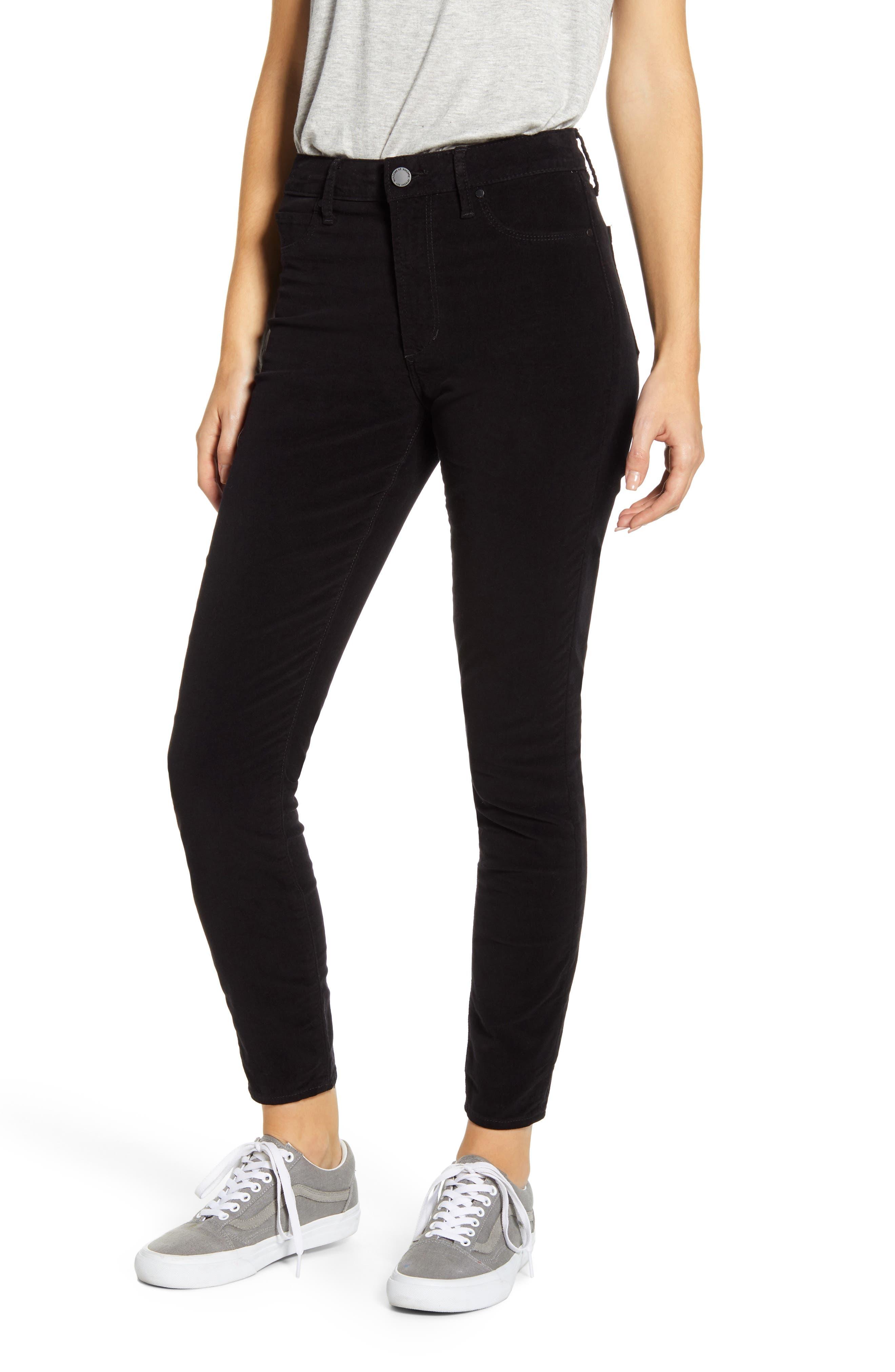 Image of Articles of Society Hilary High Waist Ankle Velveteen Skinny Jeans