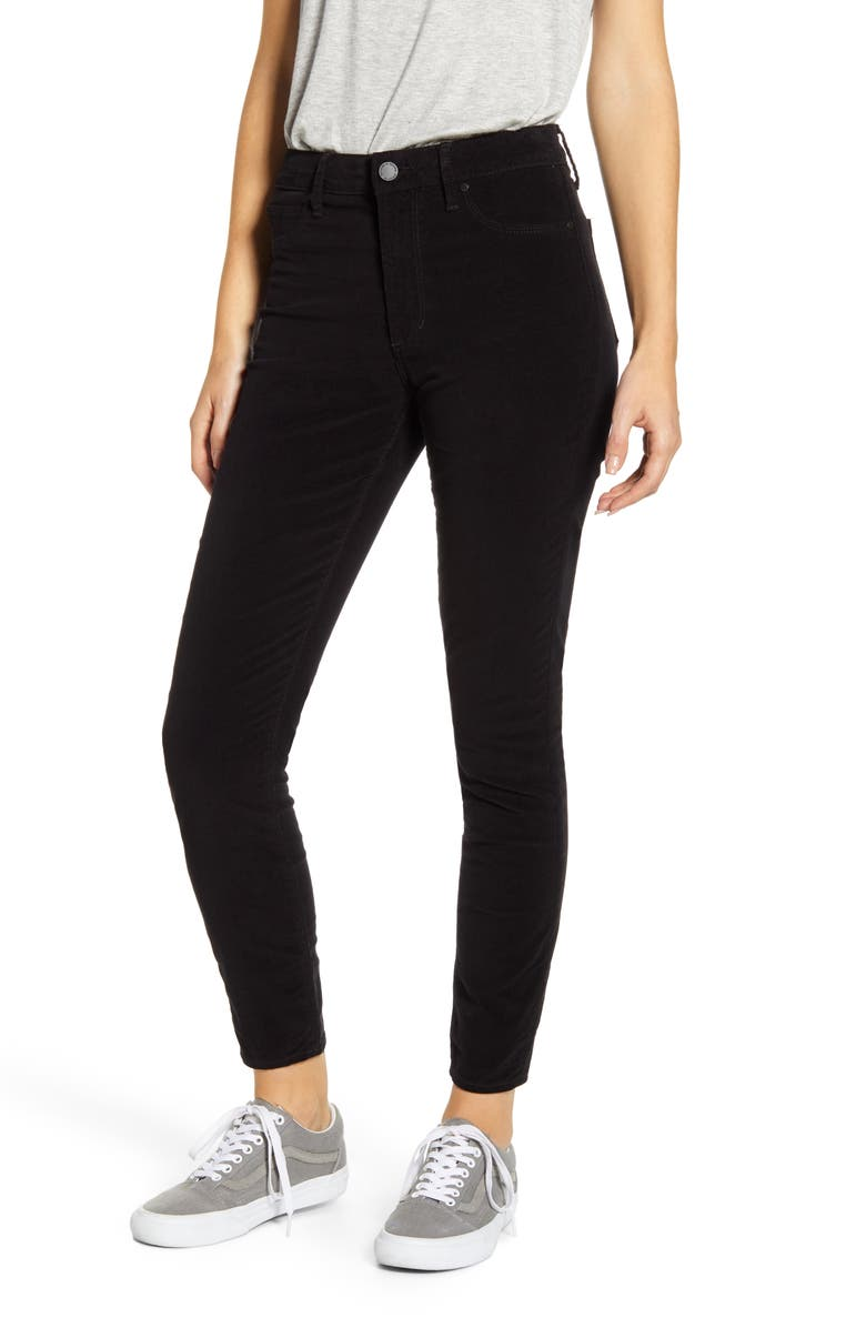 ARTICLES OF SOCIETY Hilary High Waist Ankle Velveteen Skinny Jeans, Main, color, MAMMOTH