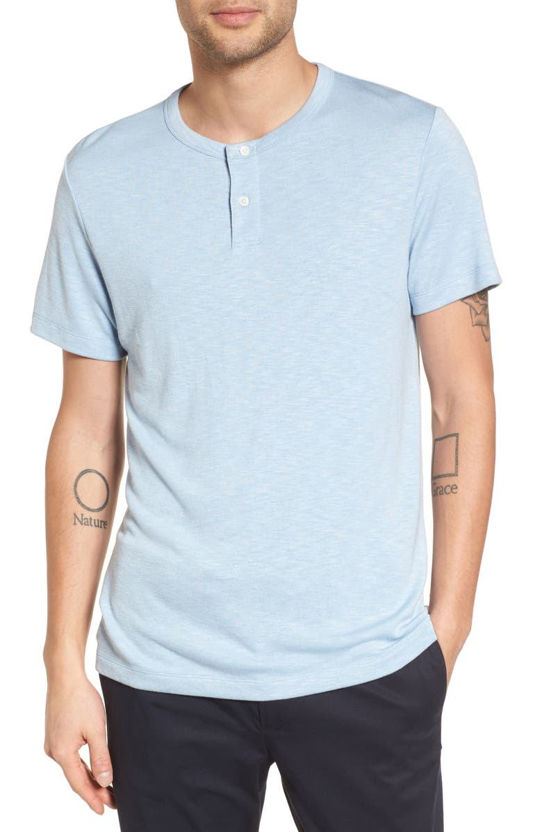 THEORY Gaskell Anemone Slim Fit Henley, Main, color, BREEZE MULTI