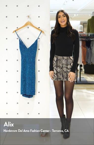 Glitter Lace-Up Back Minidress, sales video thumbnail