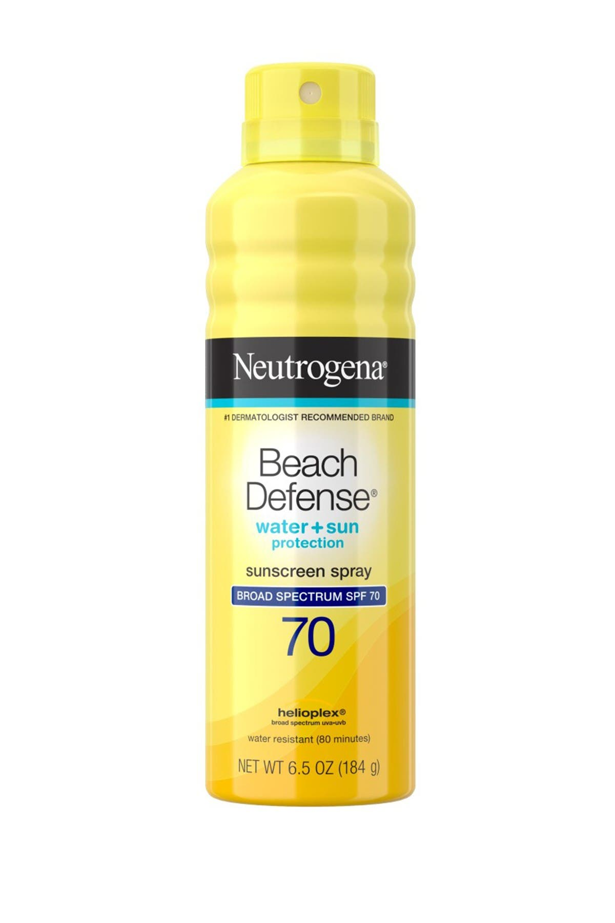 Image of Neutrogena Beach Defense Water+Sun Protection SPF 70 Sunscreen Spray