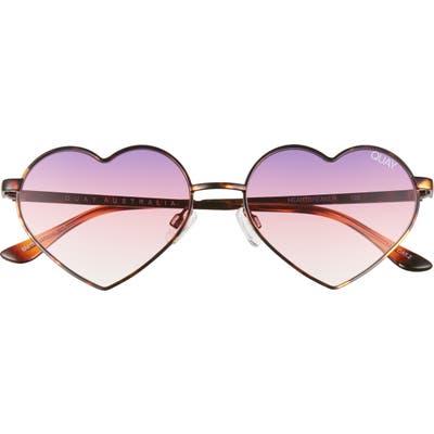 Quay Australia Heartbreaker 55mm Tinted Heart Sunglasses -