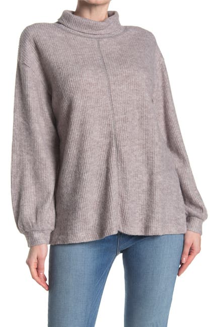 Image of Mustard Seed Ribbed Turtle Neck Sweater