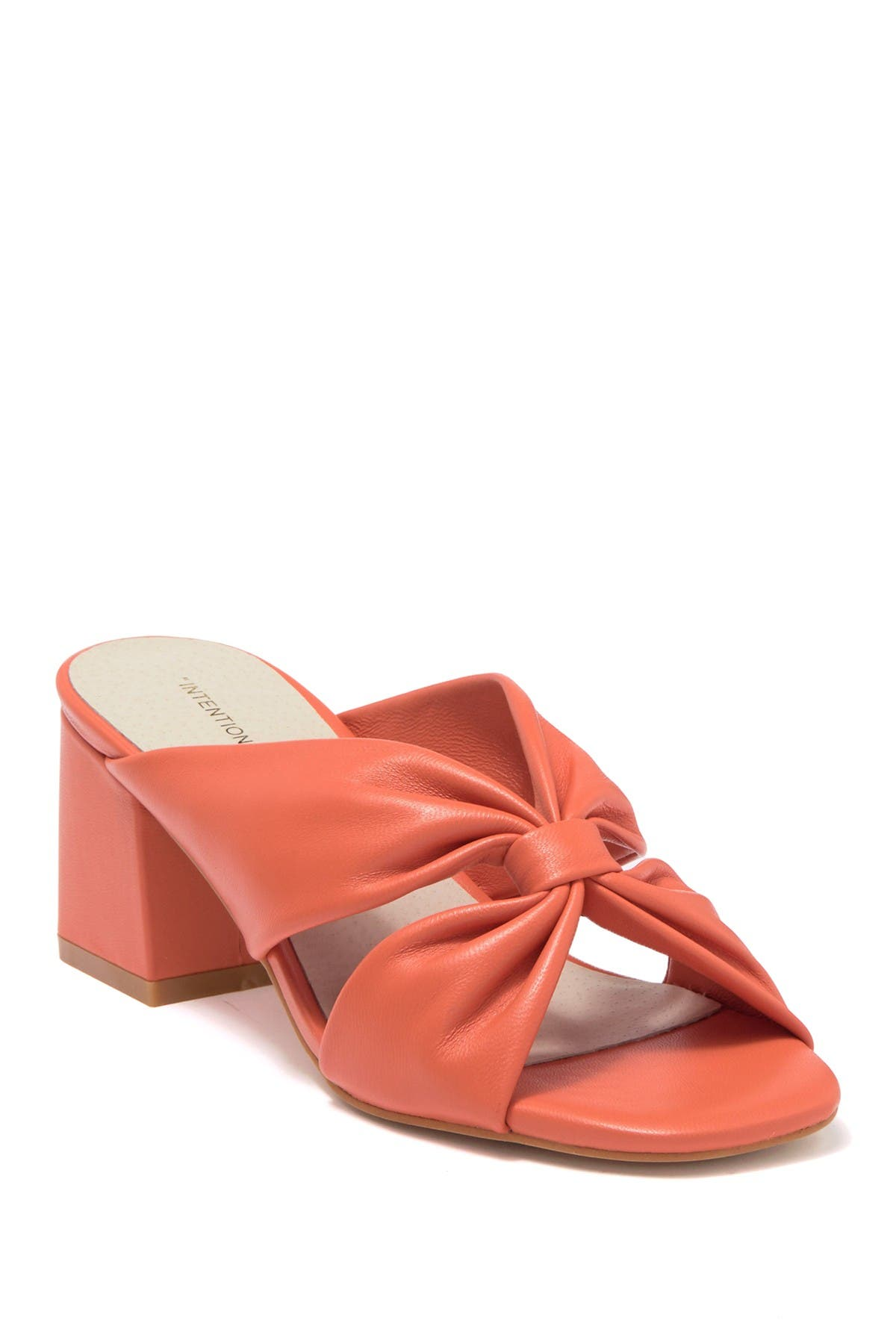 Image of Intentionally Blank Hannah Leather Block Heel Sandal