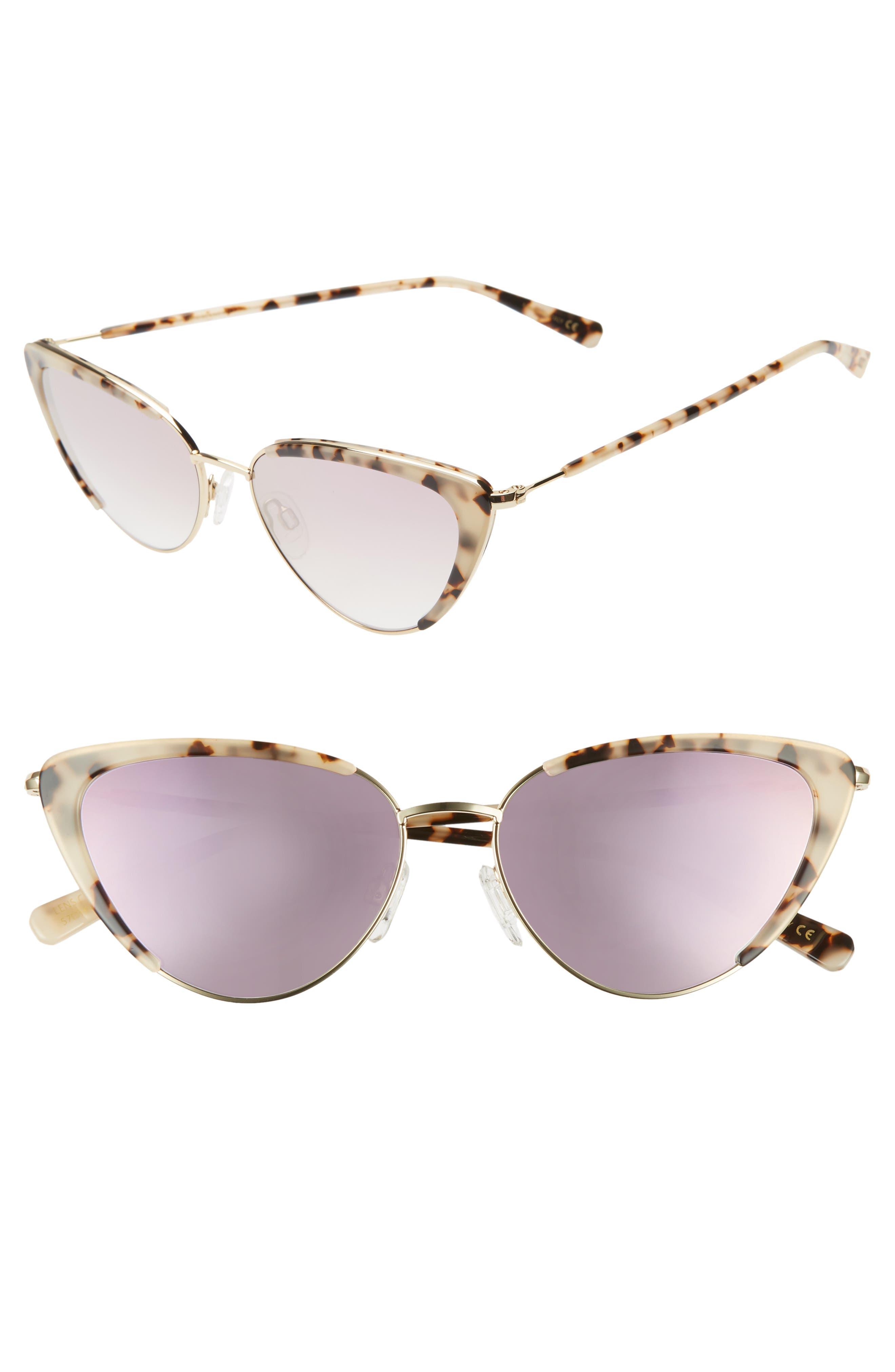 612d0e9337be 1950s Sunglasses & 50s Glasses | Retro Cat Eye Sunglasses Womens DBlanc X  Amuse Society La