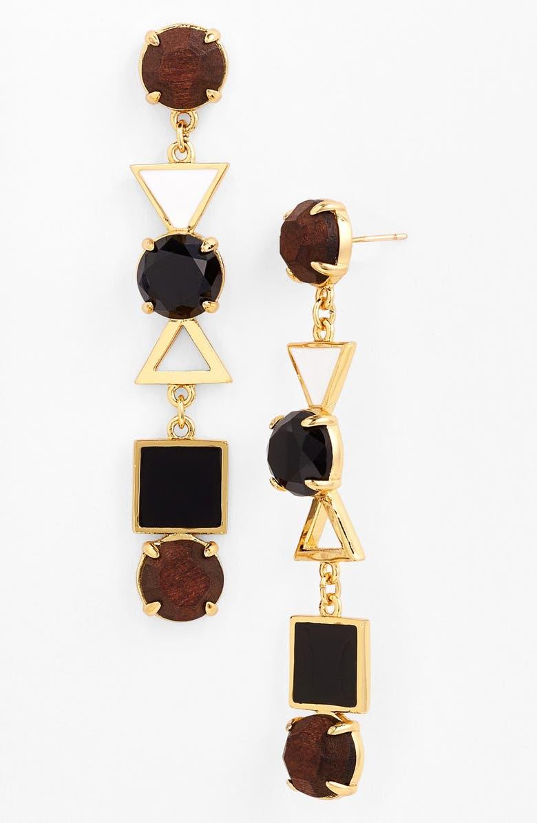 KATE SPADE NEW YORK 'ipanema tile' mixed media drop earrings, Main, color, 250