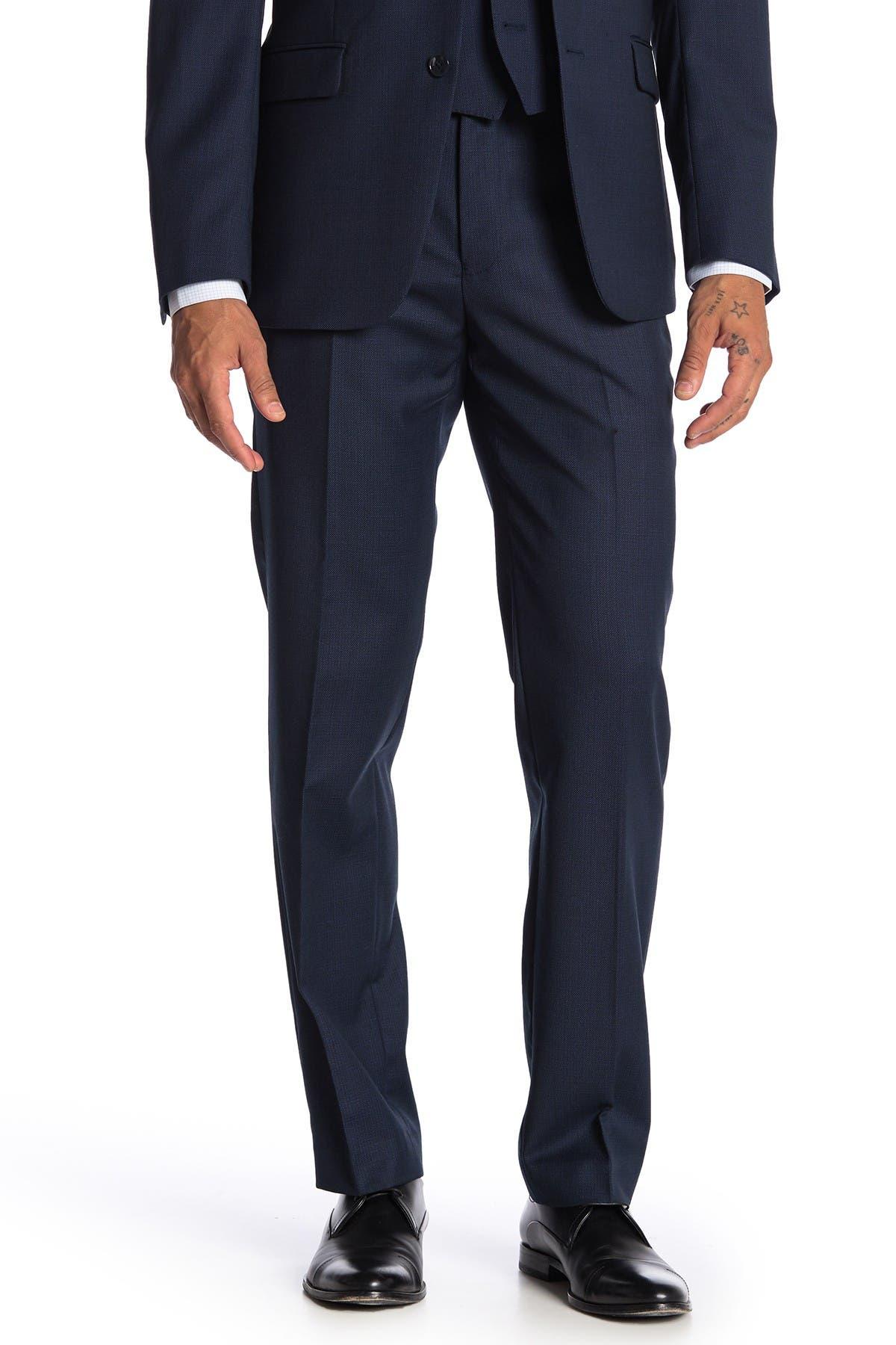 Image of Calvin Klein Bidseye Wool Suit Separate Slim Fit Pants