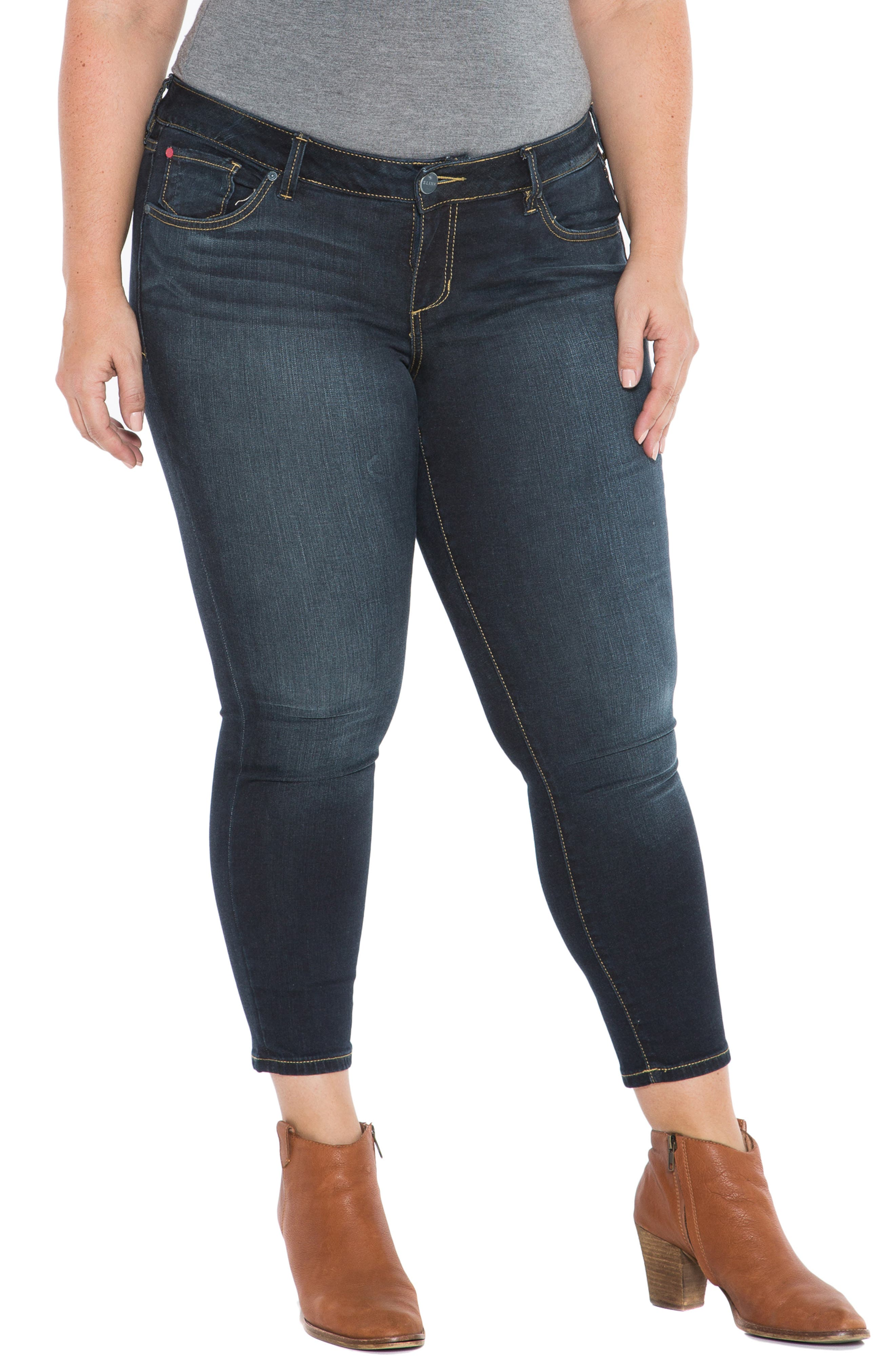 ,                             Stretch Ankle Skinny Jeans,                             Alternate thumbnail 9, color,                             SUMMER