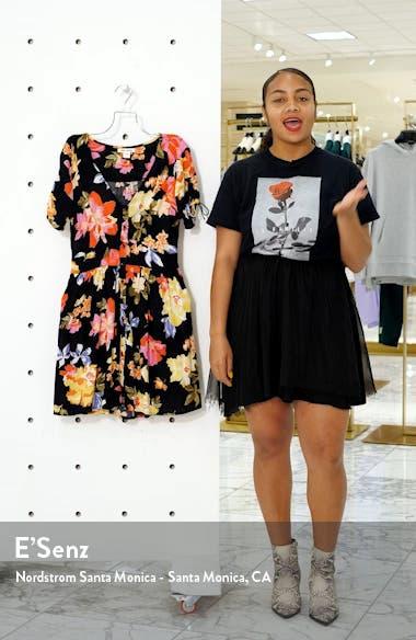 Twirl Twist Floral Print Minidress, sales video thumbnail