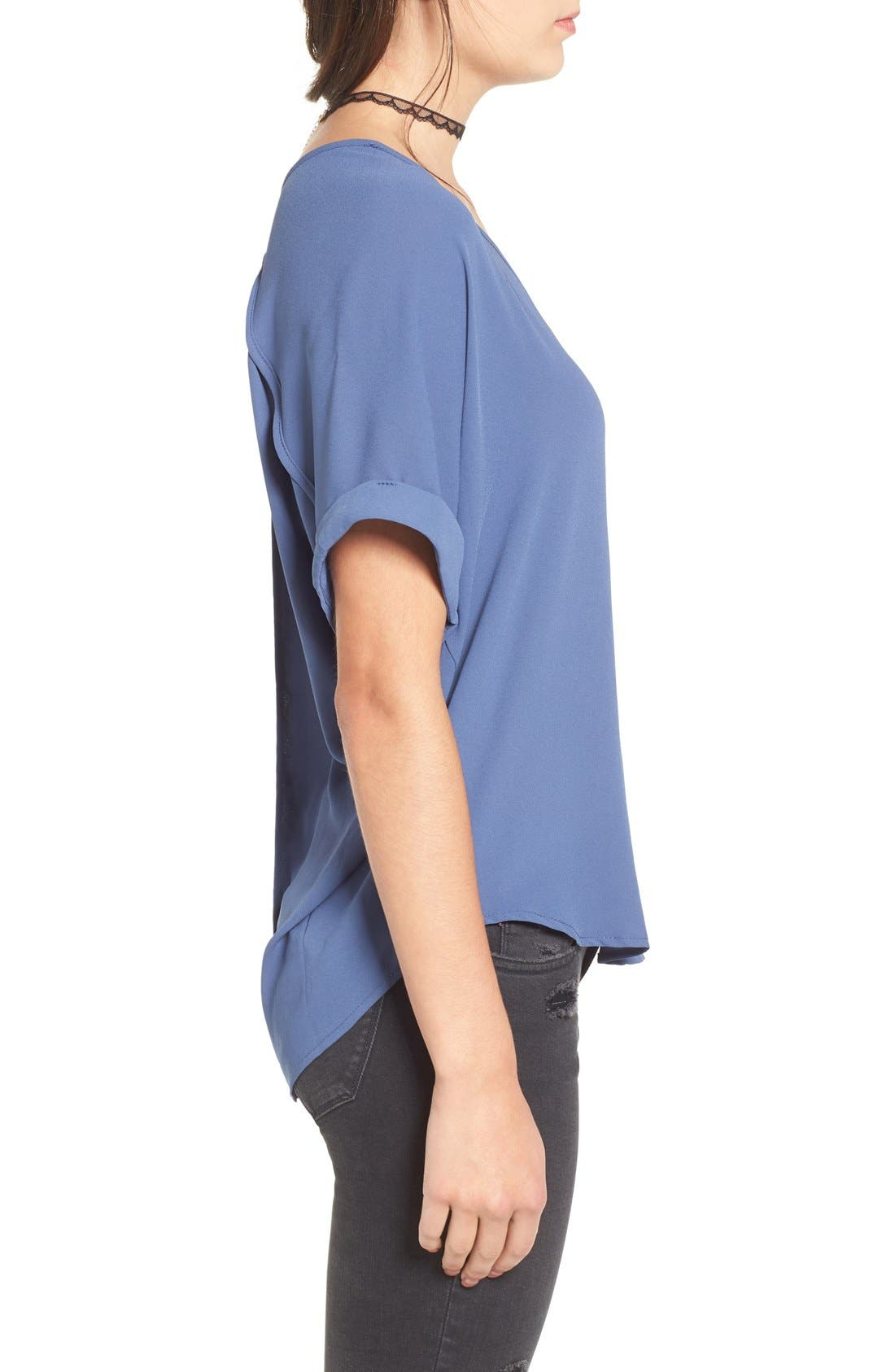 ,                             Lush Cuff Sleeve Woven Tee,                             Alternate thumbnail 97, color,                             410