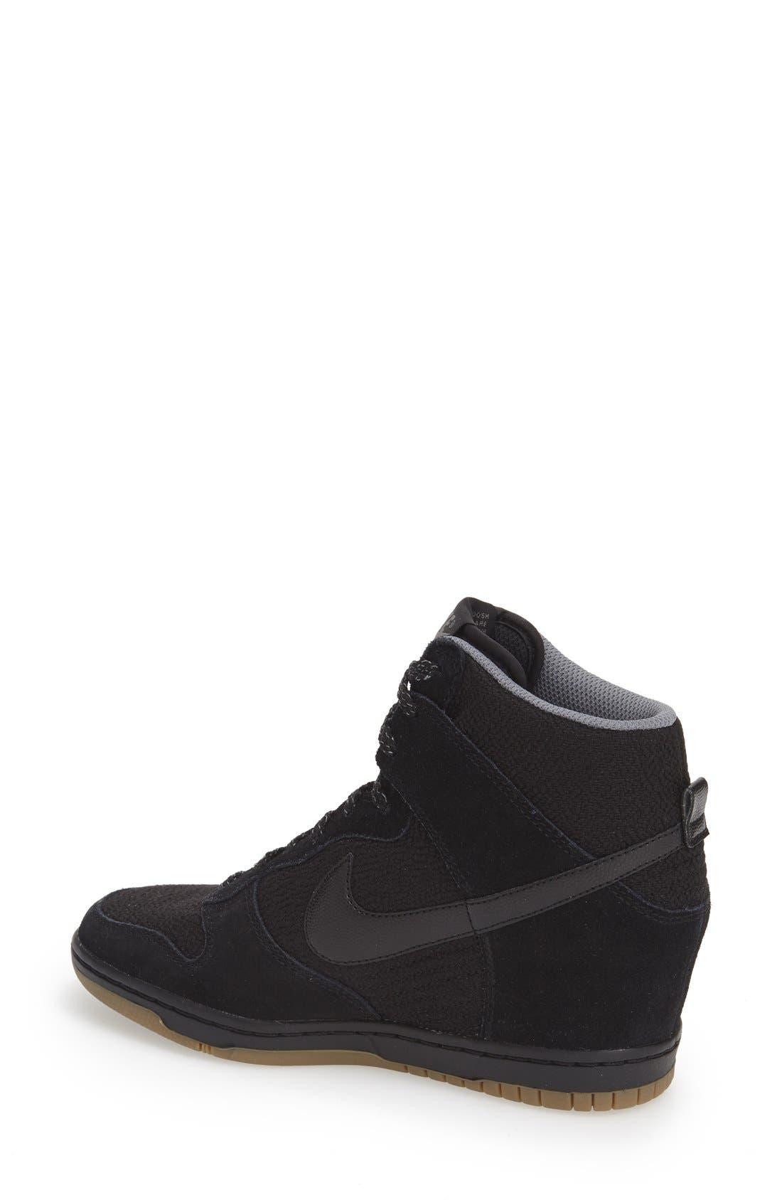 ,                             'Dunk Sky Hi - Essential' Wedge Sneaker,                             Alternate thumbnail 7, color,                             006