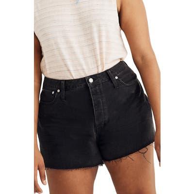 Madewell The Dadjean Denim Shorts, Black
