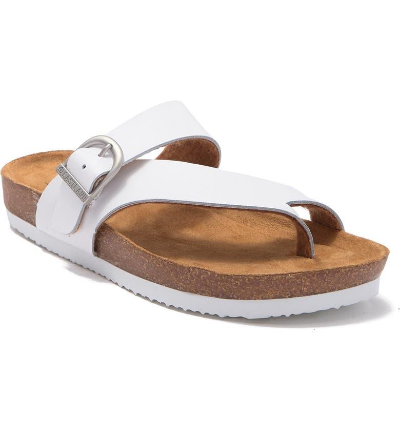 EASTLAND Shauna Loop Toe Sandal, Main, color, WHITE