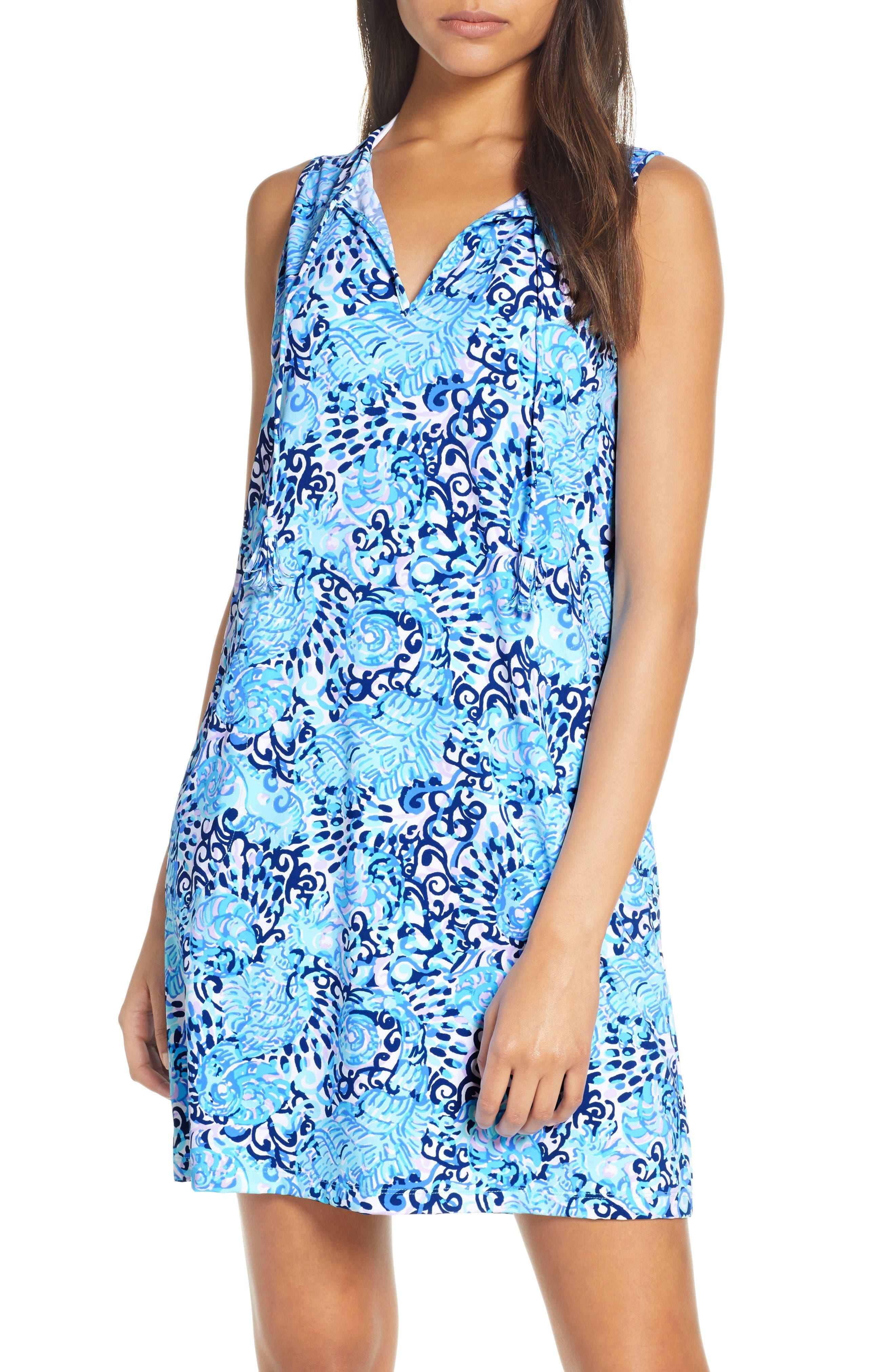 Lilly Pulitzer Johana Cover-Up Shift Dress, Blue