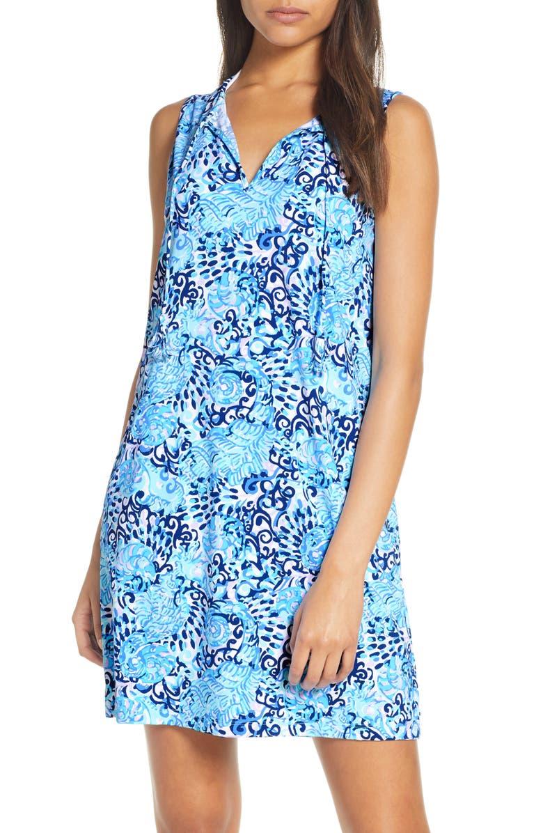 LILLY PULITZER<SUP>®</SUP> Johana Cover-Up Shift Dress, Main, color, LIGHT AQUA SPRITZ