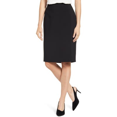 1.state Solid Pencil Skirt, Black