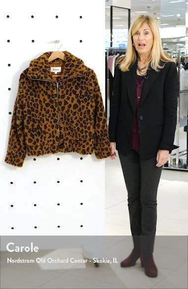 Leopard Print Faux Shearling Jacket, sales video thumbnail