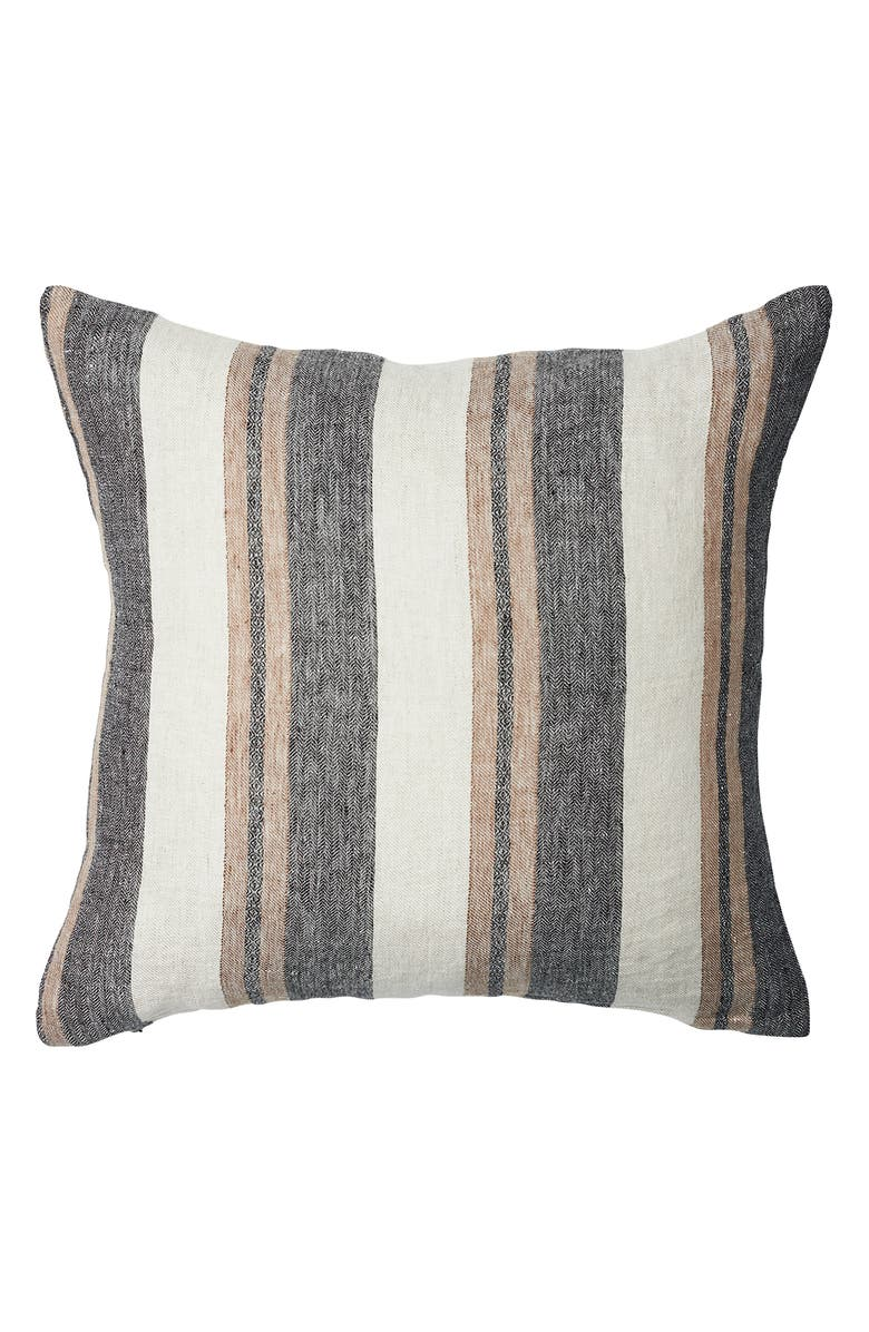EADIE LIFESTYLE Kerne Linen Accent Pillow, Main, color, WHITE/ SLATE/ NATURAL