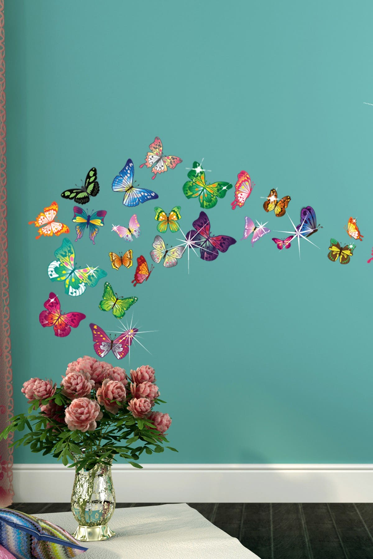 Image of WalPlus Multi Swarovski Crystal Embellished Butterflies Wall Decal
