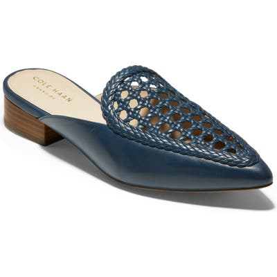 Cole Haan Payson Weave Mule, Blue/green