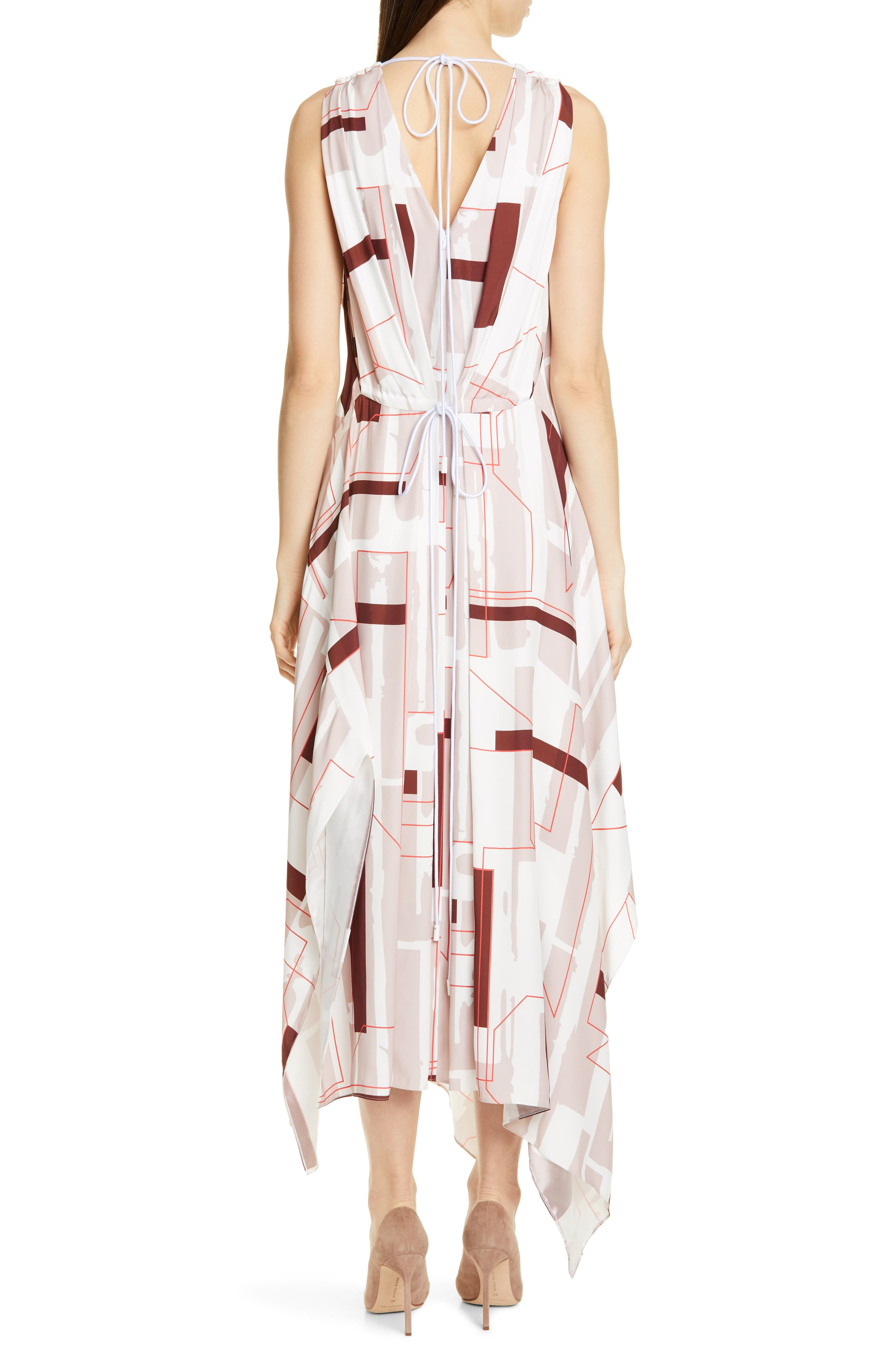 ,                             Dimapy Print Dress,                             Alternate thumbnail 2, color,                             MAP PRINT ADOBE ROSE