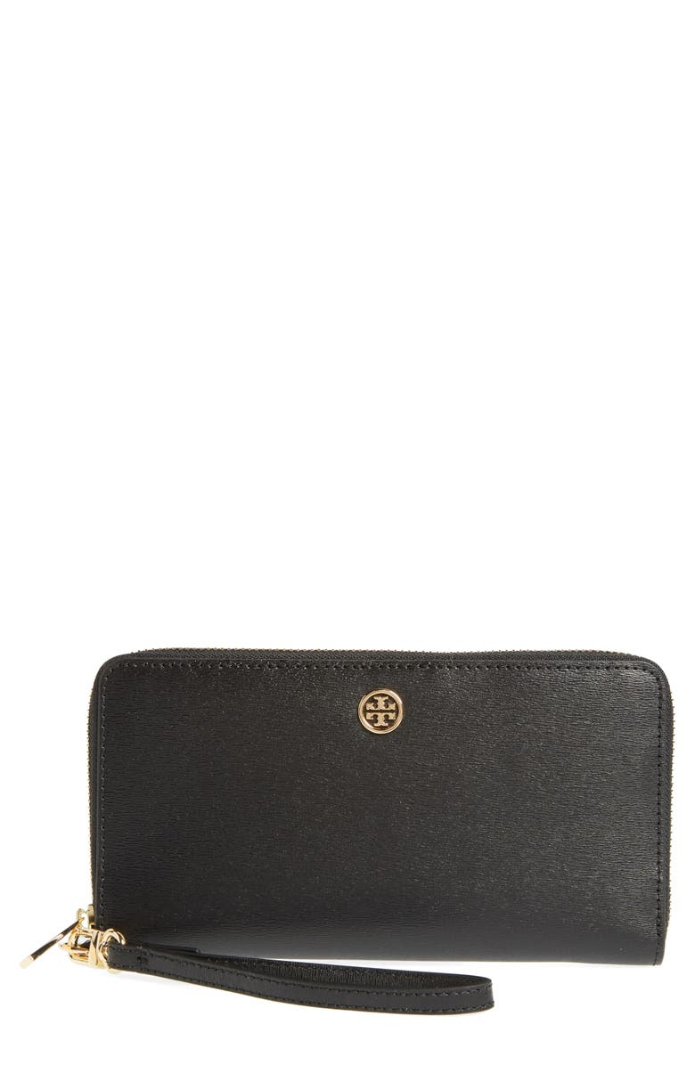 TORY BURCH Parker Leather Continental Wallet, Main, color, 001
