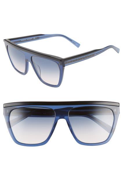 Image of Rebecca Minkoff 58mm Flat Top Shield Sunglasses