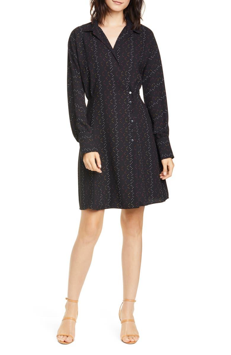 EQUIPMENT Harmon Long Sleeve Shirtdress, Main, color, 001