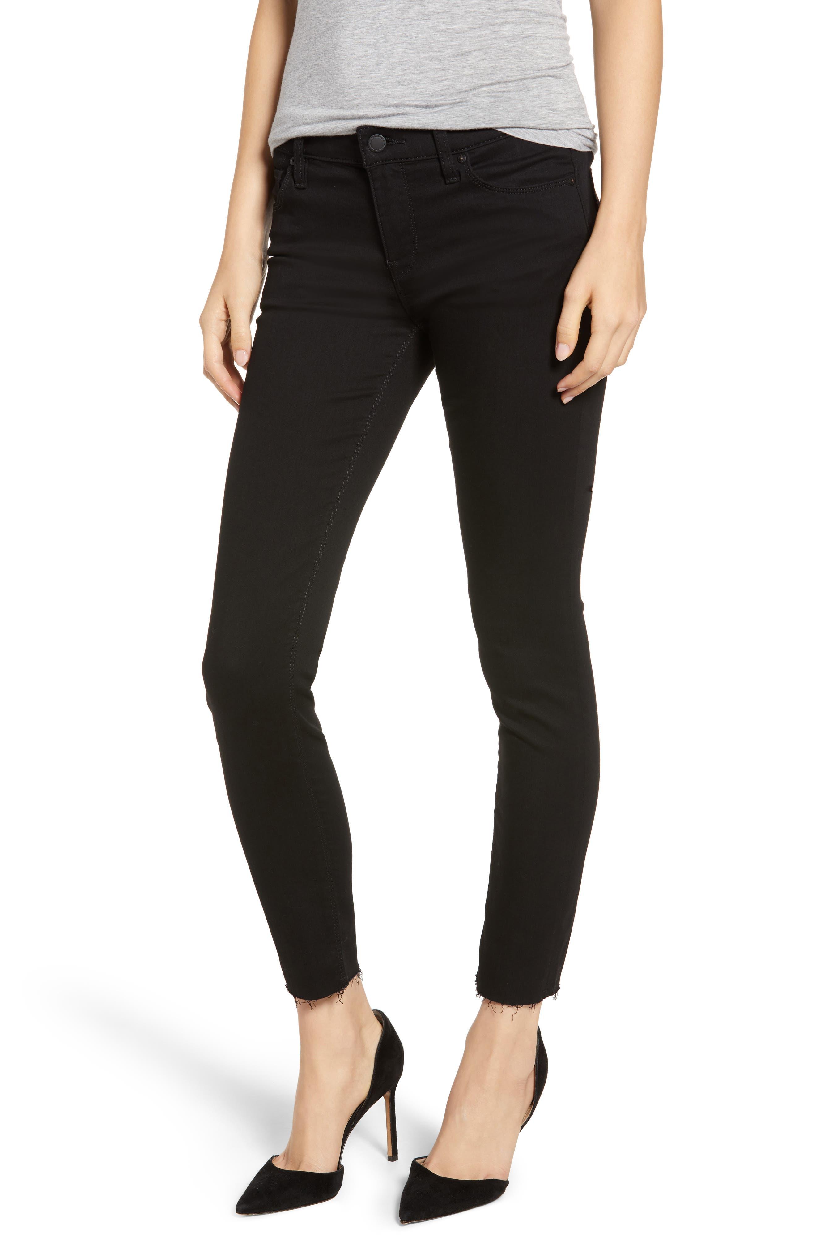 Hudson Jeans Women's Hudson Tally Raw Hem Crop Skinny Jeans
