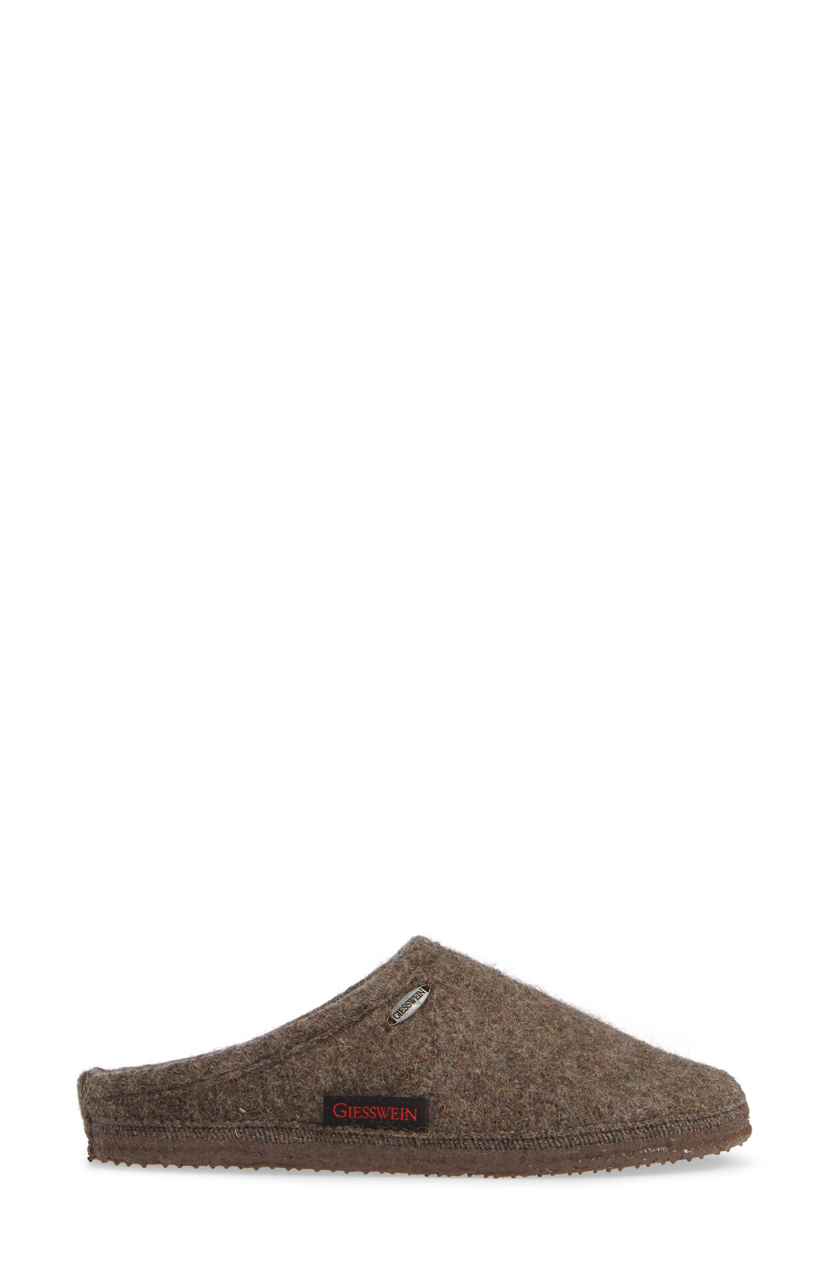 ,                             Abend Boiled Wool Slipper,                             Alternate thumbnail 3, color,                             TAUPE WOOL