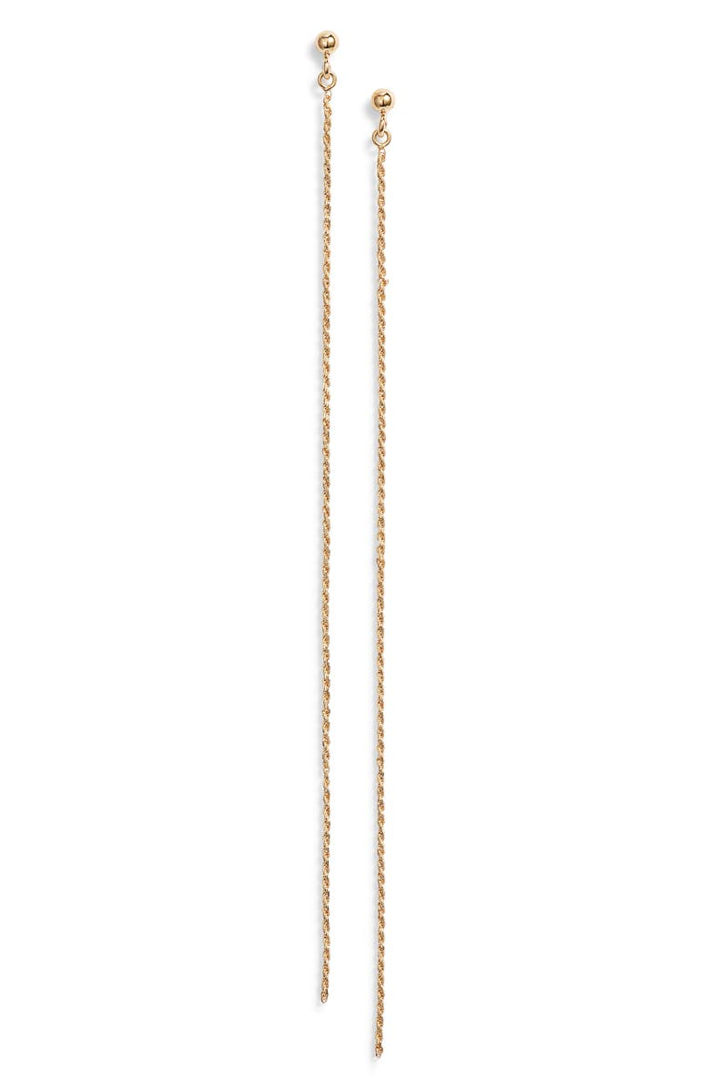 ARGENTO VIVO Chain Drop Earrings, Main, color, GOLD