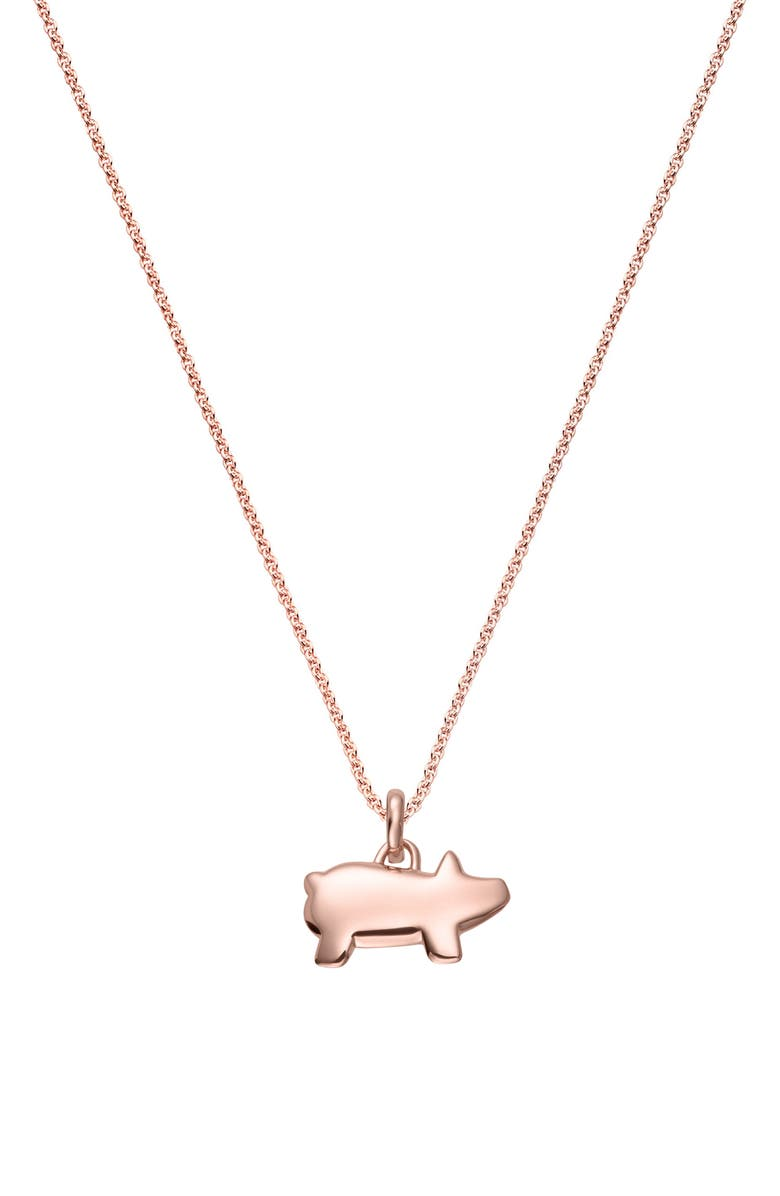 MONICA VINADER Chinese Zodiac Bessie the Pig Pendant Charm, Main, color, ROSE GOLD