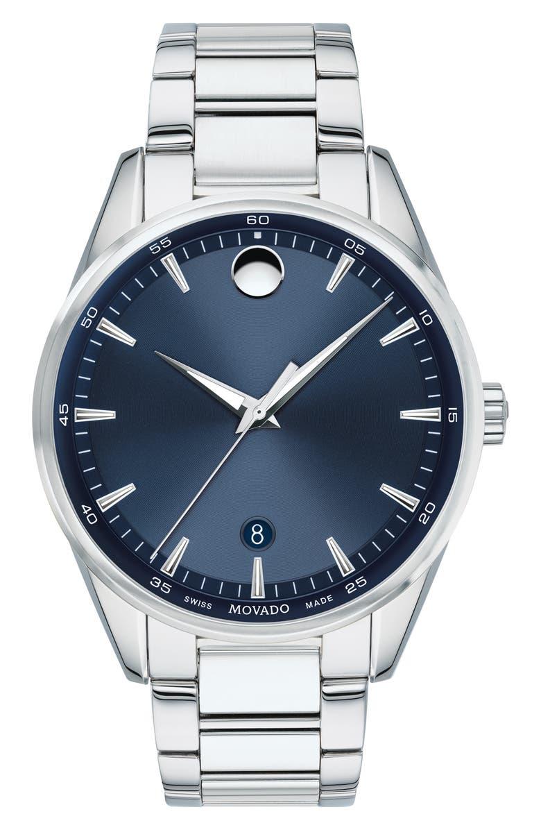MOVADO Stratus Bracelet Watch, 40mm, Main, color, 021