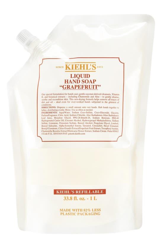 Kiehl's Since 1851 1851 Grapefruit Liquid Hand Soap, 33.8 oz In Refill
