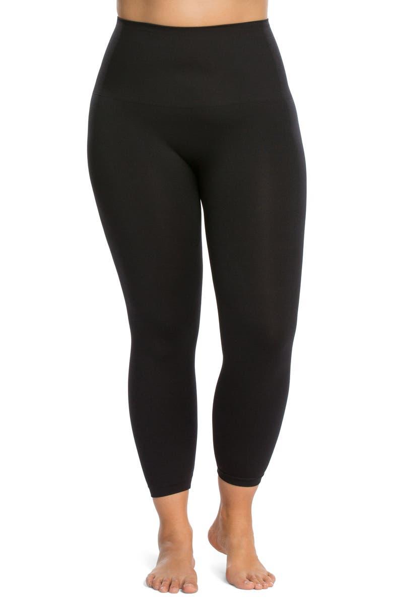 SPANX<SUP>®</SUP> Seamless Crop Leggings, Main, color, BLACK