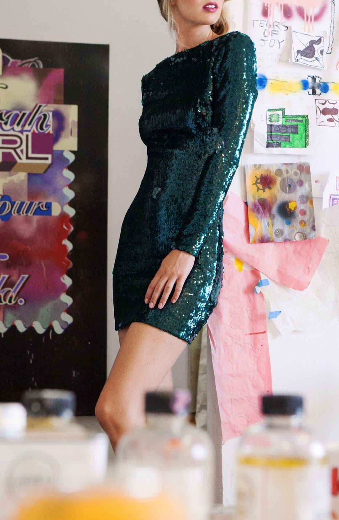 ,                             Lola Sequin Minidress,                             Alternate thumbnail 16, color,                             302