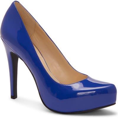 Jessica Simpson Parisah Glitter Platform Pump- Blue
