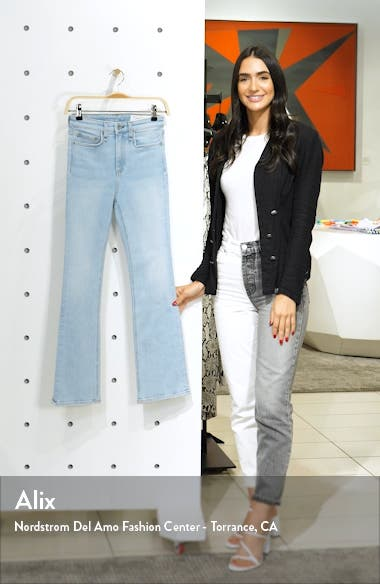 Nina High Waist Ankle Flare Jeans, sales video thumbnail