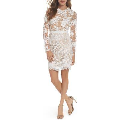 Ml Monique Lhuillier Calypso Lace Sheath Dress, Ivory